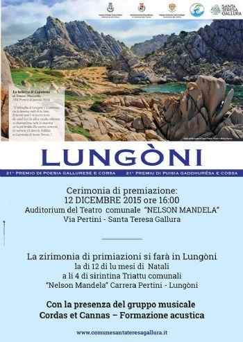 """21° premio di poesia gallurese e corsa """"Lungoni"""""""